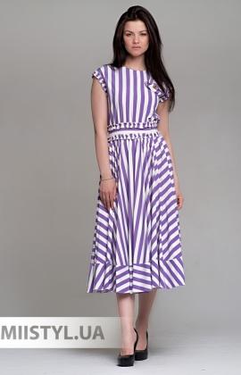 Платье Mira Mia 19Y6056 Белый/Лиловый/Полоска