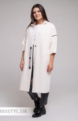 Блуза Cliche 2614370 Белый/Пудра/Принт