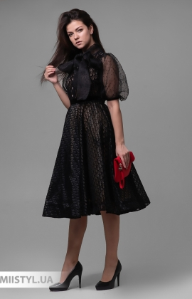 Платье Behcetti 14545 Черный/Бежевый