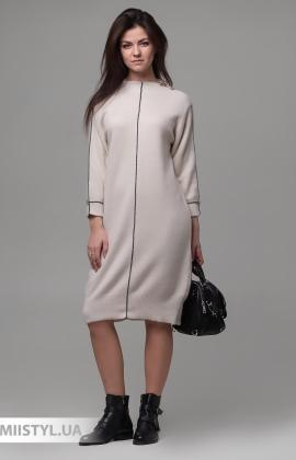 Платье Serianno 10С6904 Молочный/Люрекс