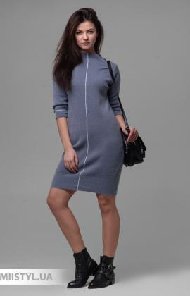 Платье Serianno 10С6904 Голубой/Люрекс
