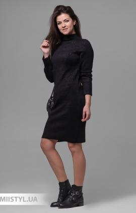 Платье Serianno 10С5880 Черный/Люрекс