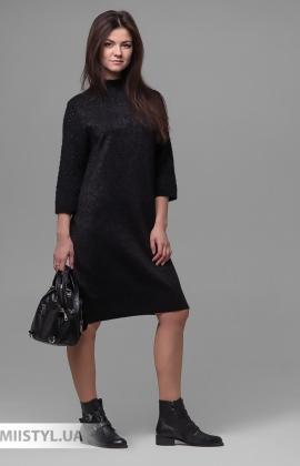 Платье Serianno 10С5912 Черный/Люрекс