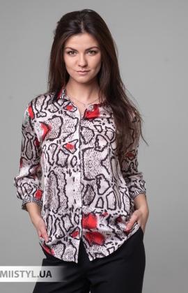 Блуза SHN 4535 Белый/Красный/Принт