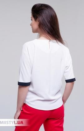 Блуза Moda Linda 4434 Белый/Красный/Принт