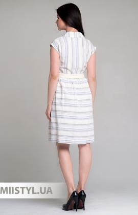 Платье Lafilazzi 4004 Белый/Желтый/Полоска