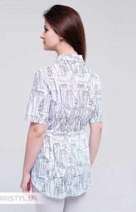 Блуза Meissi 3067 Белый/Черный/Принт