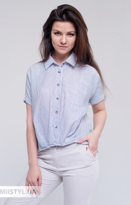 Блуза Meissi 3066 Белый/Синий/Полоска