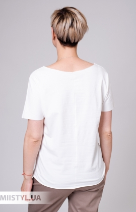 Блуза Aras 5651 Белый/Серый
