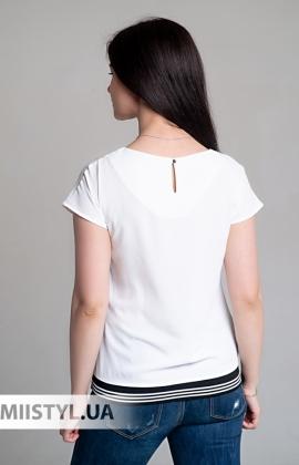 Блуза Cliche 2664422 Белый/Черный/Принт