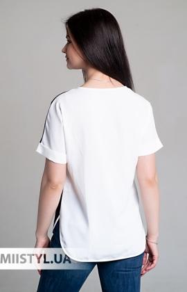 Блуза Cliche 2414369 Белый/Черный/Принт