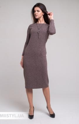 Платье Merkur 11015 Пудра/Меланж
