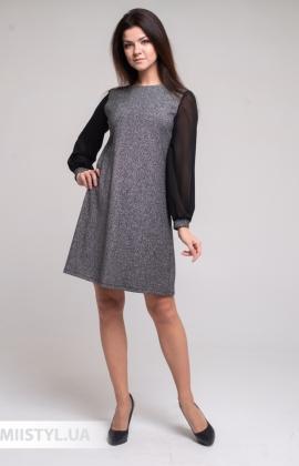 Платье Merkur 11020 Черный/Люрекс