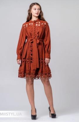 Платье Kosmika 4466 Терракотовый