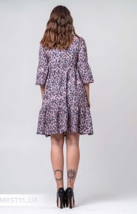 Платье La Fama 1381 Пудра/Принт