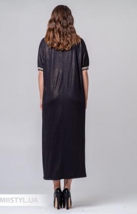 Платье Miss Lilium M20K10854 Черный/Люрекс