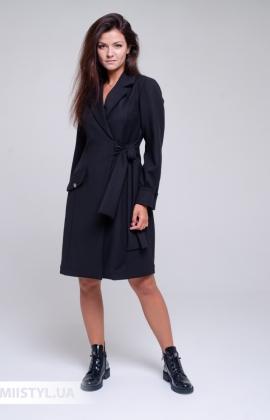 Платье La Julyet 6687 Черный/Серый/Полоска