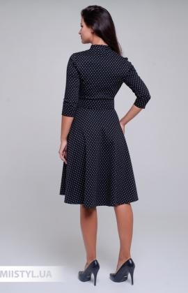 Платье L.Hotse 5850 Черный/Белый/Горох
