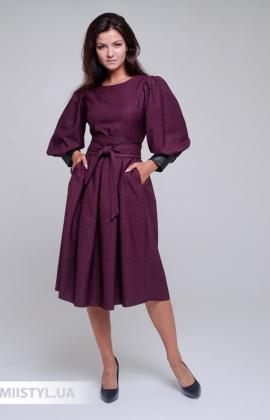 Платье La Julyet 6691 Бордовый/Люрекс