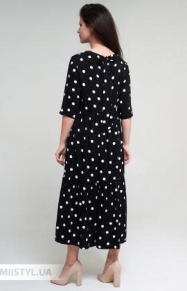 Платье Miss Lilium 20Y10939 Черный/Белый/Горох