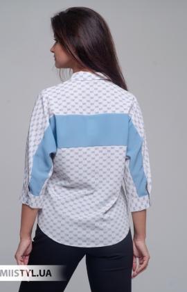 Блуза Merkur 0525040 Бежевый/Голубой/Принт