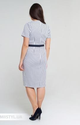 Платье Lady Morgana 6048 Белый/Темно-синий/Полоска
