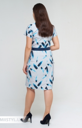 Платье La Fama 1571-B Серый/Принт