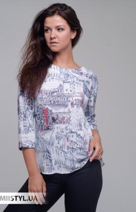 Блуза Merkur 0555047 Белый/Красный/Принт