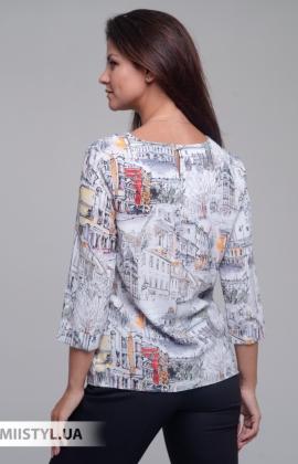 Блуза Merkur 0555047 Белый/Оранжевый/Принт