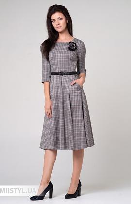 Платье Lady Morgana 4922 Серый/Синий/Клетка
