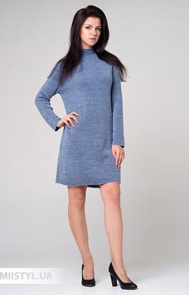 Платье Serianno 10С5964 Серый/Голубой/Люрекс