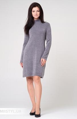 Платье Serianno 10С5964 Серый/Люрекс