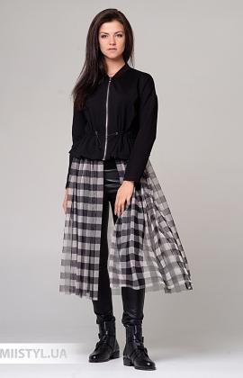 Платье Imperial M9990021I Черный/Клетка