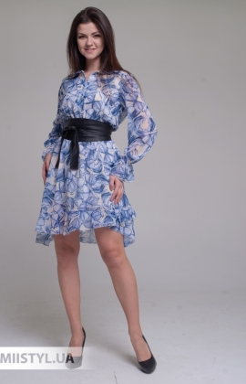 Платье Joleen S21-A107DV Голубой/Принт