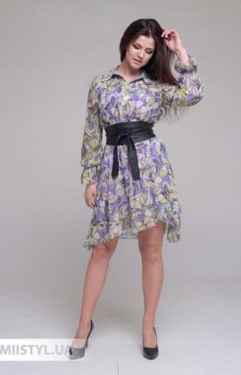 Платье Joleen S21-A107DV Сереневый/Принт
