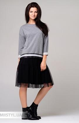 Платье One Love 9093 Серый