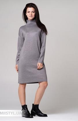 Платье Beauty Women FF 0551 Серый/Люрекс