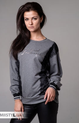 Джемпер Michelle 190333 Серый/Черный