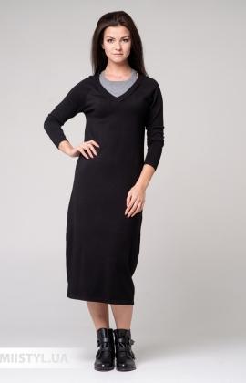 Платье Michelle 190024 Черный/Серый