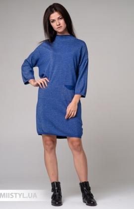 Платье Michelle 190841 Синий/Люрекс