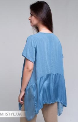 Блуза Fashion 9058 Джинсовый