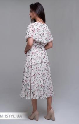 Платье J.London 65811 Молочный/Розовый/Принт