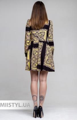 Платье  Lumina 7409 Бежевый/Принт