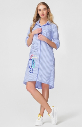 Платье RM1167-18DD Голубой