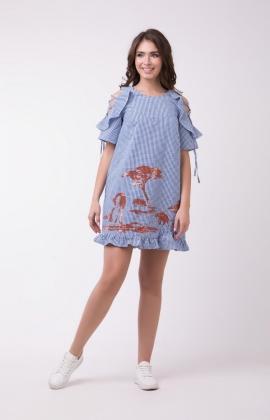Платье RM1165-18DD Синий