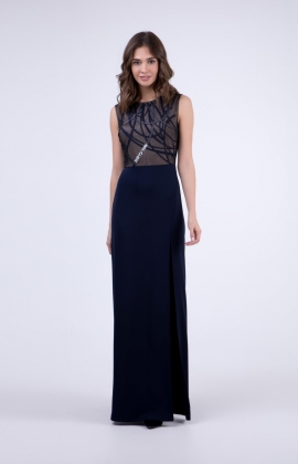 Платье RM1922-18VP Синий/Серебристый