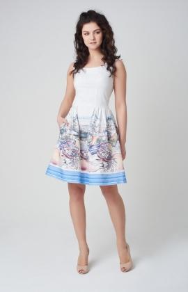 Платье Rica Mare RM295-17DD Молочный
