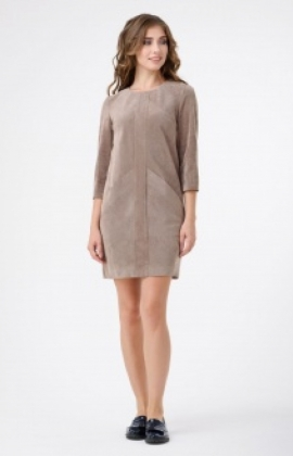 Платье RM357-17DD Бежевый