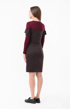 Платье RM1893-18DD Бордовый