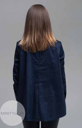 Блуза Lumina 11352 Темно-синий